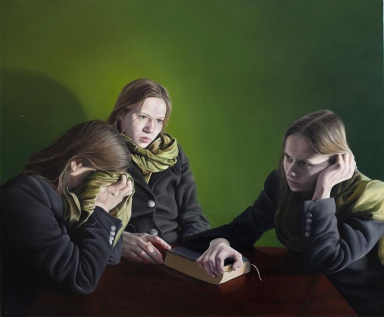 Stilleben – grüne Wand