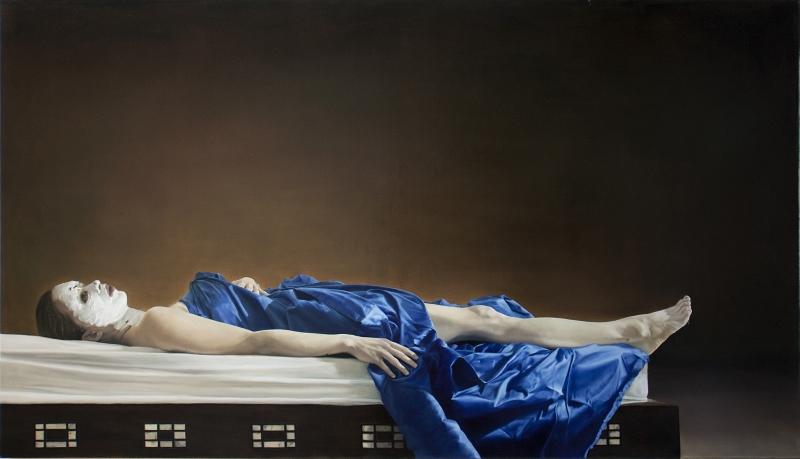 Stilleben – blaues Tuch