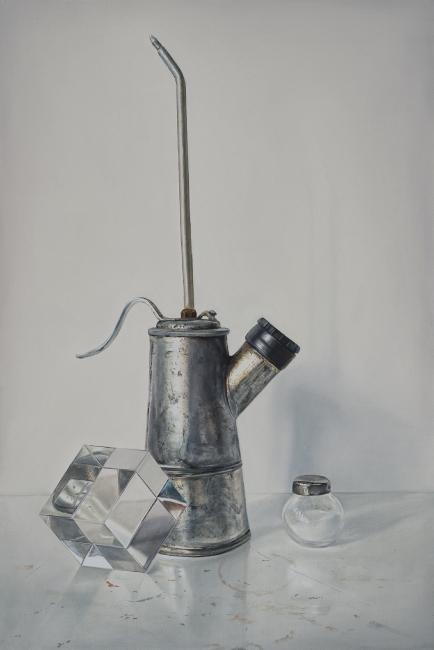 Ölkännchen, Salzstreuer, Glaskubus