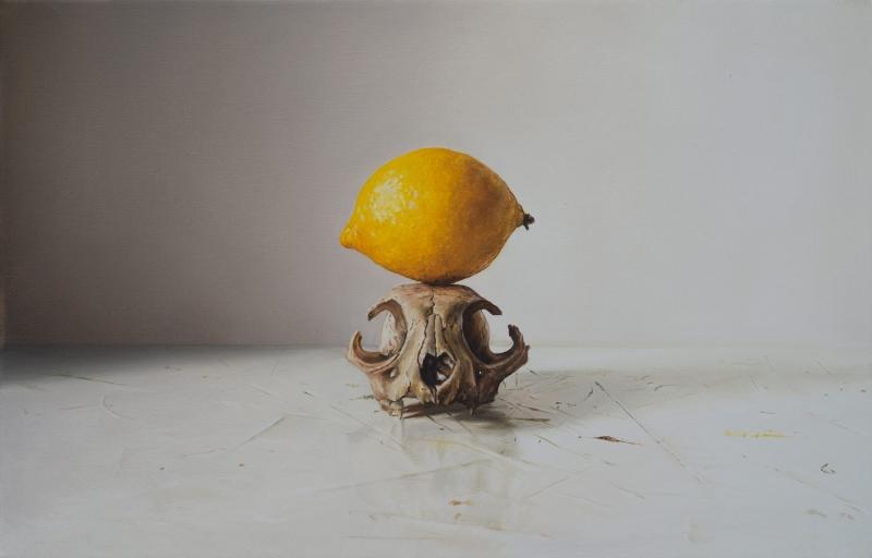 Zitrone auf Marderschädel_1